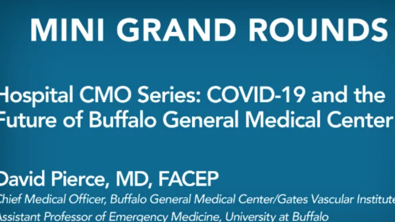 Hospital CMO Series: COVID-19 and the Future of Buffalo General Medical Center