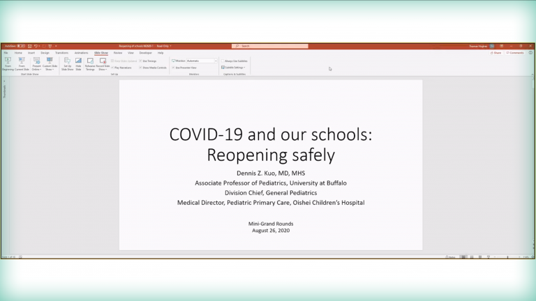 COVID-19 and Our Schools:  Reopening Safely