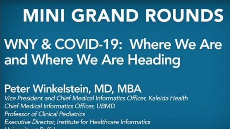 WNY & COVID-19: Where We Are and Where We Are Heading