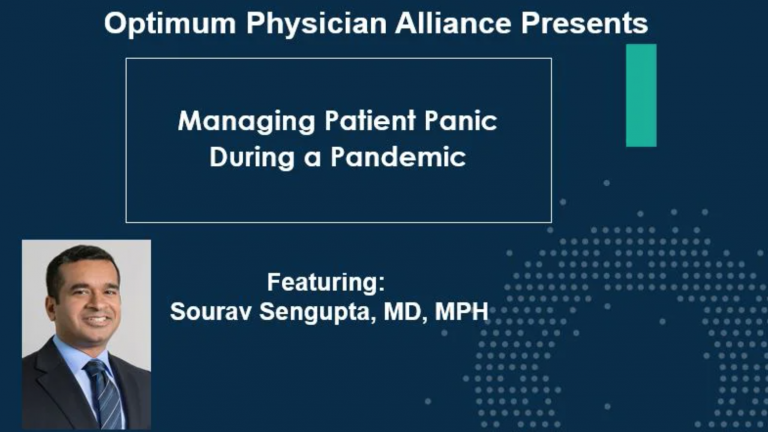 Managing Patient Panic During a Pandemic